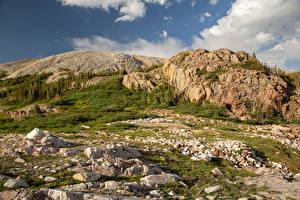 Фотографии Америка Горы Камни Скалы Medicine Bow-Routt National Forest