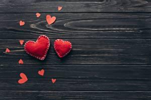 Фото День святого Валентина Серце Доски Шаблон поздравительной открытки