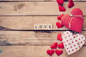 Фотографии День святого Валентина Любовь Сердце Слово - Надпись Английский Доски Шаблон поздравительной открытки