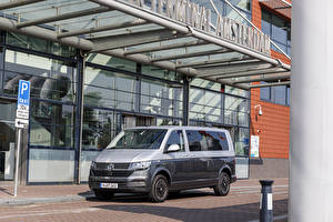 Обои Volkswagen Минивэн Серый Металлик 2019-20 Caravelle LWB Worldwide Автомобили