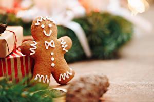 Фото Рождество Печенье Вблизи Боке