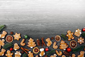 Обои Новый год Печенье Шаблон поздравительной открытки Шишка Шар