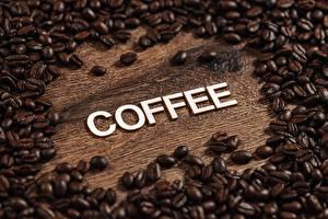 Картинки Кофе Много Зерна Слово - Надпись Английская coffee