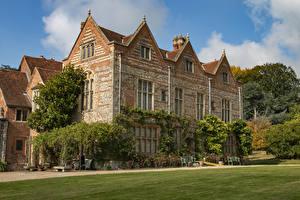 Картинки Англия Особняк Дизайн Газон National Trust - Greys Court Oxfordshire город