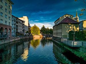 Фото Германия Дома Водный канал Pforzheim