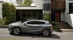 Картинки Инфинити Серые Сбоку Hatchback, Premium-class, Q30 1.5d, 2015