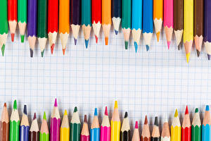 Фото Много Карандаш Разноцветные Шаблон поздравительной открытки