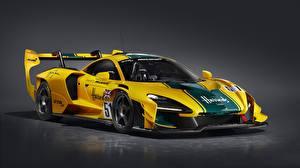 Фото McLaren Купе Желтые Senna GTR LM, 2020 Автомобили