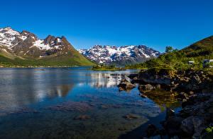 Фото Норвегия Горы Лофотенские острова