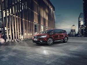 Фотографии Renault Минивэн Бордовая 2019 Espace Автомобили