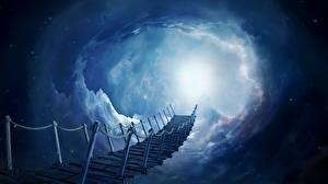 Фотография Небо Лестница Облако Фэнтези