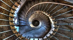 Картинка Лестница Сверху Старый