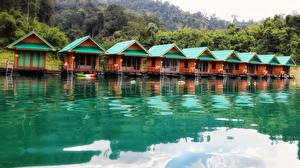 Картинка Таиланд Парк Озеро Здания Cheow Lan Lake Khao Sok National Park Thailand