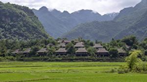 Фотография Вьетнам Дома Гора Поля Деревня Ban Lac Village, Mai Chau