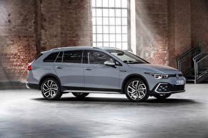 Картинка Volkswagen Универсал Серый Металлик Golf Alltrack, 2020 машины