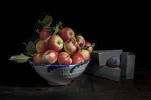 Картинка Яблоки Миска Продукты питания