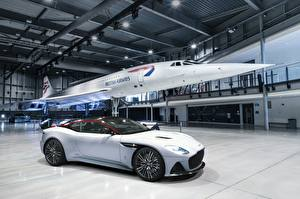 Обои Астон мартин Белый DBS Superleggera Edition Concorde