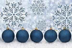 Обои Новый год Шар Снежинки