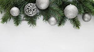 Картинка Рождество Ветка Шарики Шаблон поздравительной открытки