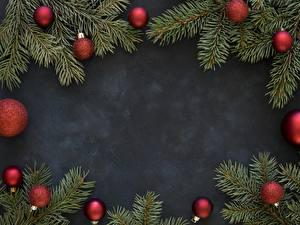 Обои Новый год Ветки Шар Шаблон поздравительной открытки