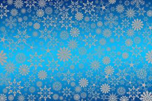 Фотография Рождество Текстура Снежинка Цветной фон