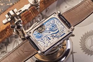 Обои для рабочего стола Часы Наручные часы Крупным планом Механизмы konstantin chaykin