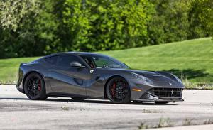 Фотография Ferrari Серый Сбоку f12 novitec carbonfiber машина