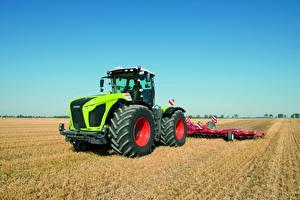 Картинка Поля Сельскохозяйственная техника Трактора Xerion 4000