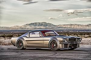 Обои для рабочего стола Форд HDRI Сбоку Mustang 1965 Автомобили
