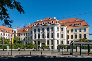 Фотография Германия Дрезден Здания Музей Забор City Museum Города