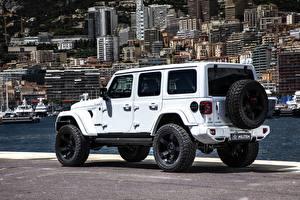 Обои Джип Стайлинг SUV Белый Wrangler Unlimited Militem Ferōx, 2019-- Автомобили