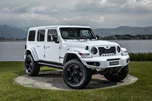 Обои Jeep Стайлинг SUV Белая Wrangler Unlimited Militem Ferōx, 2019-- машина
