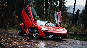 Обои Макларен Красный Металлик 570S 570S машины