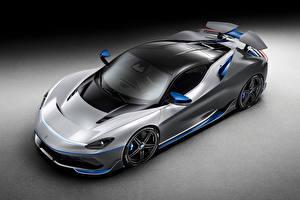 Фото Pininfarina Сверху Серый фон Серый Battista 'Anniversario', 2020 машины