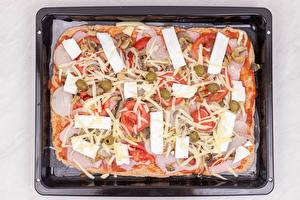 Обои Пицца Колбаса Сыры Томаты Пища
