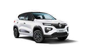 Обои Renault Кроссовер Белый Металлик Kwid Ultra, ZA-spec, 2020 Автомобили картинки