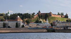 Картинка Россия Здания Крепость Река Nizhny Novgorod