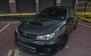 Картинки Subaru Черный Карбон Impreza WRX STI Grey авто