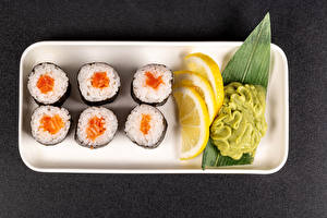 Фото Суси Лимоны wasabi