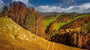 Фото Швейцария Осенние Гора Леса Луга Aedermannsdorf, Solothurn