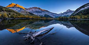 Фото Швейцария Горы Озеро Пейзаж Альп Отражается Valais Природа