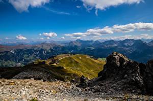 Фото Швейцария Гора Небо Альп Облака Graubünden