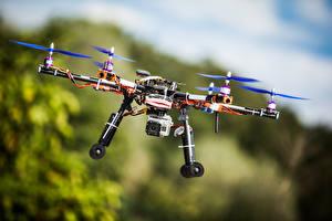 Фотография БПЛА Видеокамера Летящий Размытый фон hexacopter