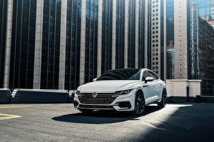 Обои для рабочего стола Volkswagen Белый 2018 R-Line Arteon 2019 Автомобили