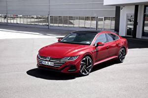 Фотография Фольксваген Красная 2020 Arteon R-Line Worldwide Автомобили