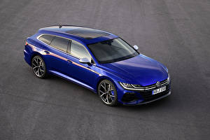 Обои Volkswagen Синий Металлик 2020 Arteon Shooting Brake R Worldwide Автомобили