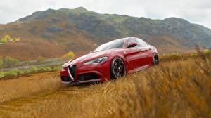 Обои для рабочего стола Alfa Romeo Forza Horizon 4 Красные giulia Автомобили