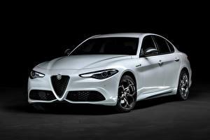 Картинки Alfa Romeo Белые Металлик Giulia Veloce Ti Q4 (952), 2019 --