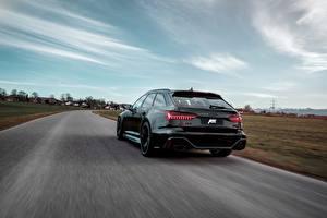 Фото Audi Вид сзади Черные Универсал ABT RS 6 2020 2019 V8 Twin-Turbo Avant 700
