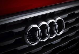 Фотографии Audi Логотип эмблема Крупным планом Автомобили